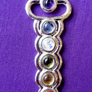 Chakra pendant sterling silver plated.